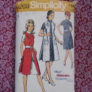 VTG 1970s Dress Tunic Vest Pattern B 36